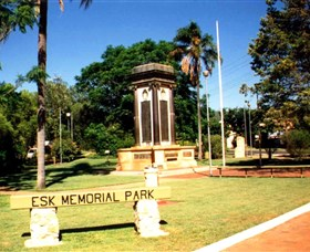 Esk War Memorial and Esk Memorial Park - Accommodation BNB