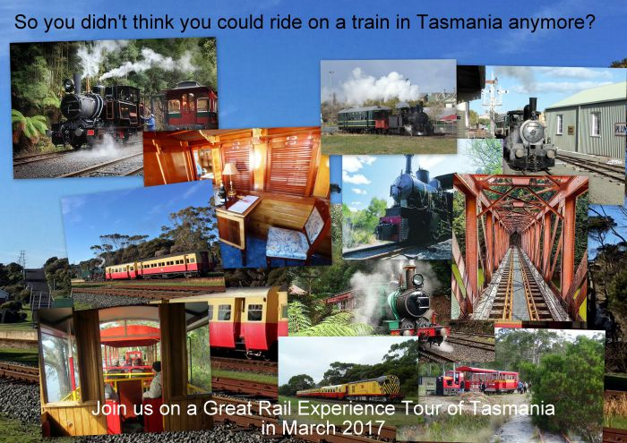 Great Rail Experiences  Tasmania Tour 2017 - Accommodation BNB