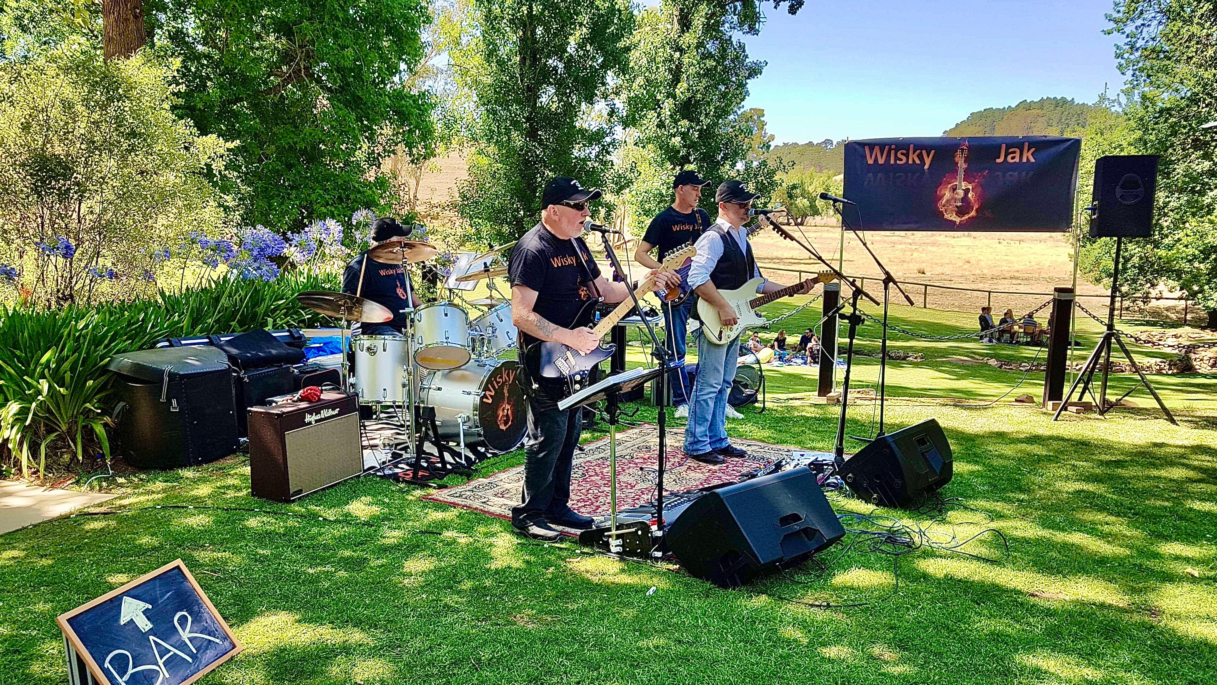 Angas Plains Wines Live in the Vines with the band -Wisky Jak - Accommodation BNB