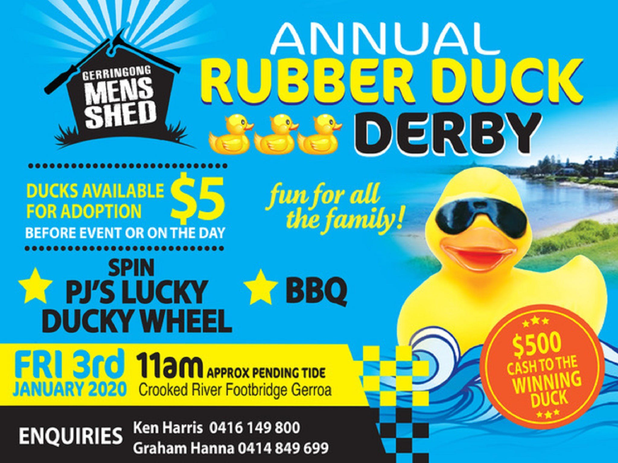 Gerringong Mens Shed Annual Duck Derby - Accommodation BNB