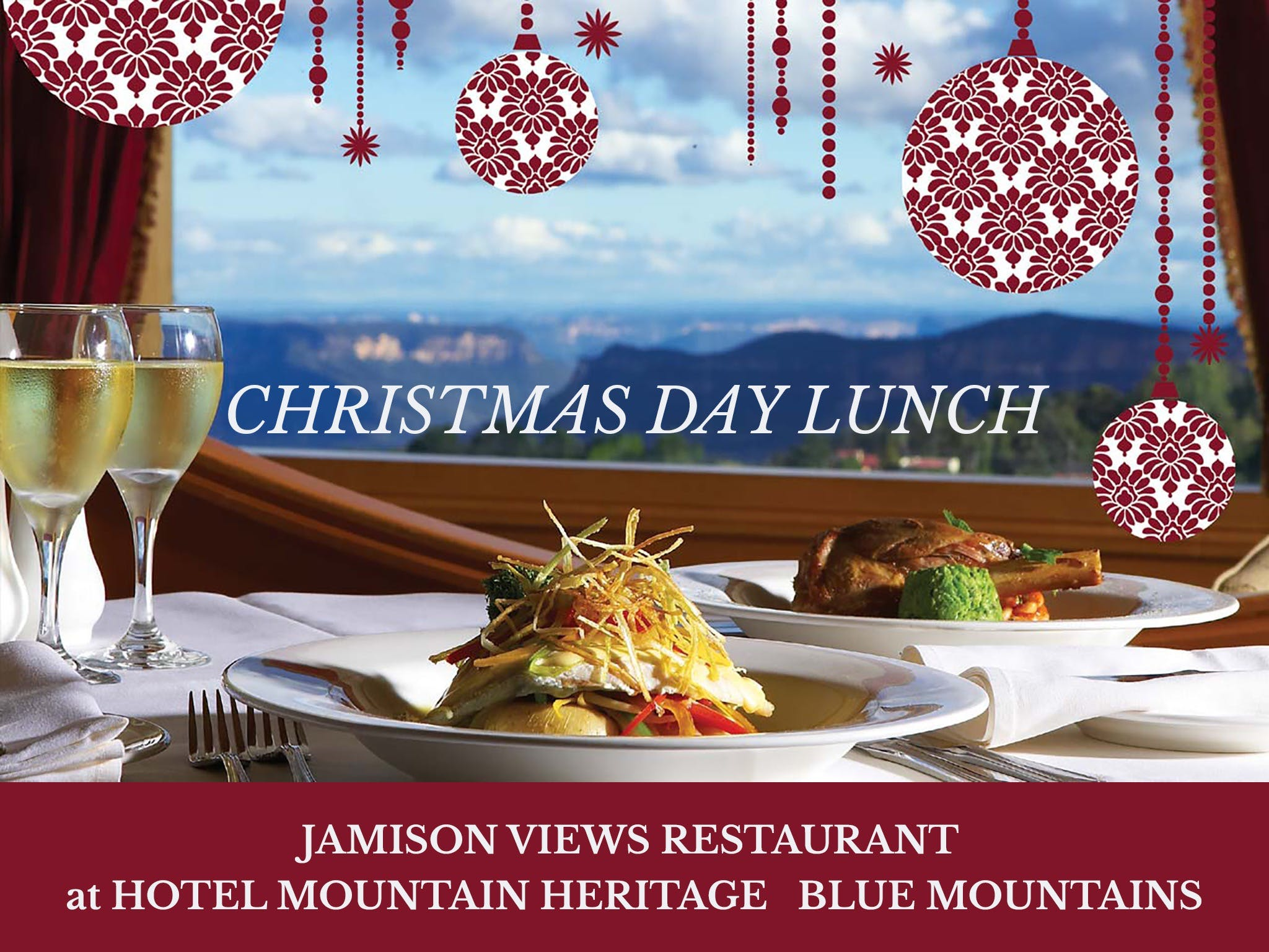 Christmas Day Lunch Hotel Mountain Heritage - Accommodation BNB
