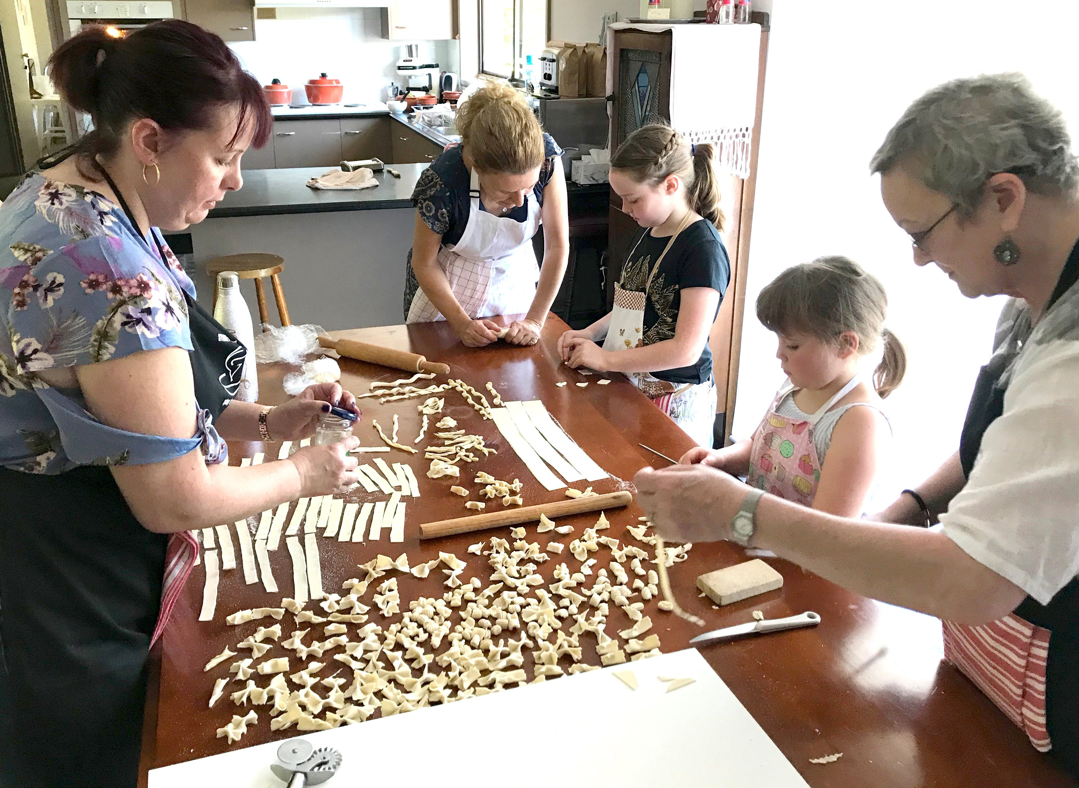 Kids Pasta Making Class - hands on fun at your house - Accommodation BNB