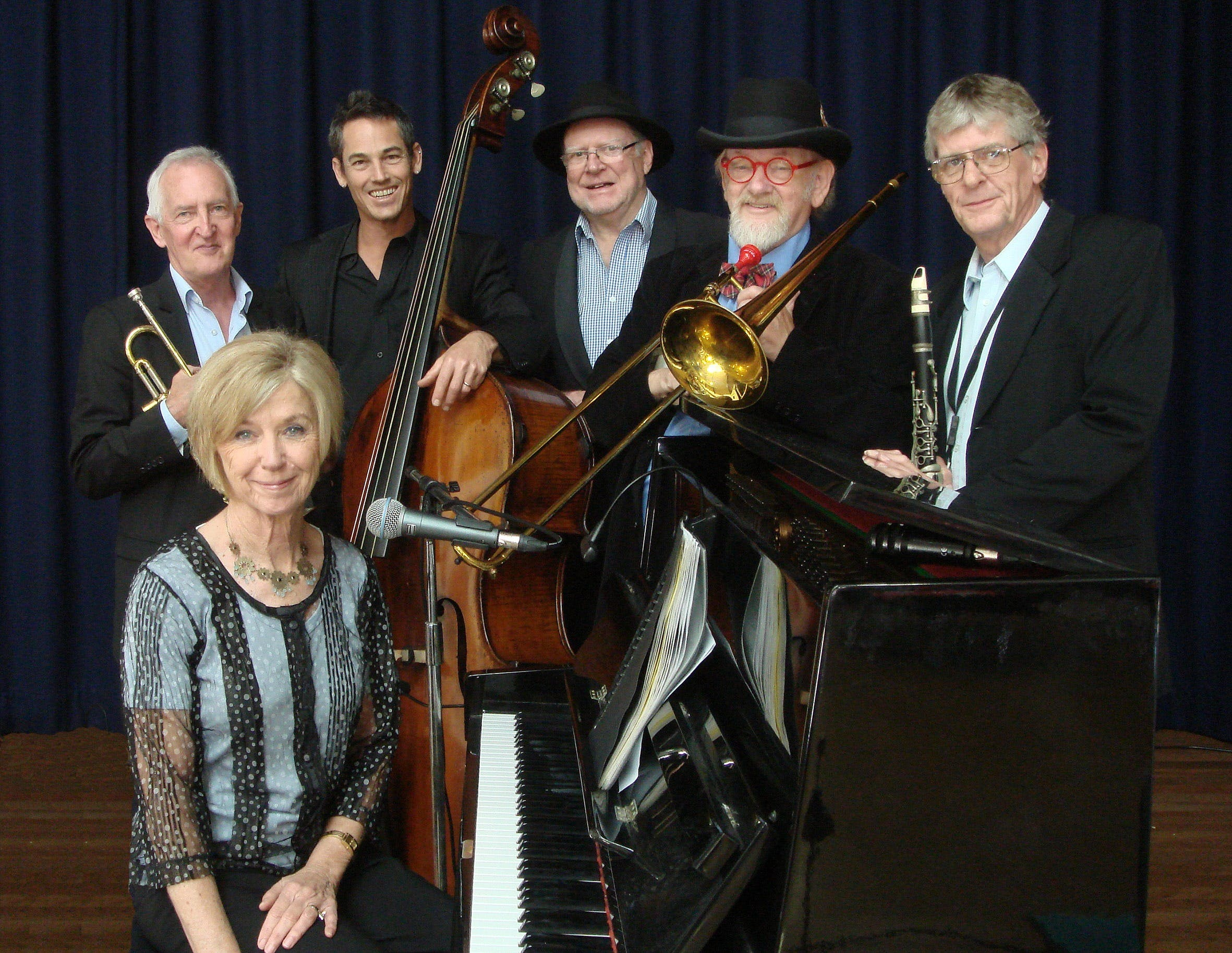 The Caxton Street Jazz Band in the Swigmore Hall at Robert Channon Wines - Accommodation BNB