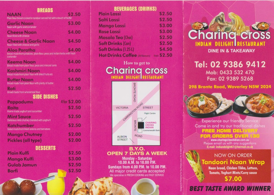 Charing Cross Indian Delight Restaurant - Accommodation BNB