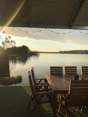 Shack built over the Murray River - Accommodation BNB